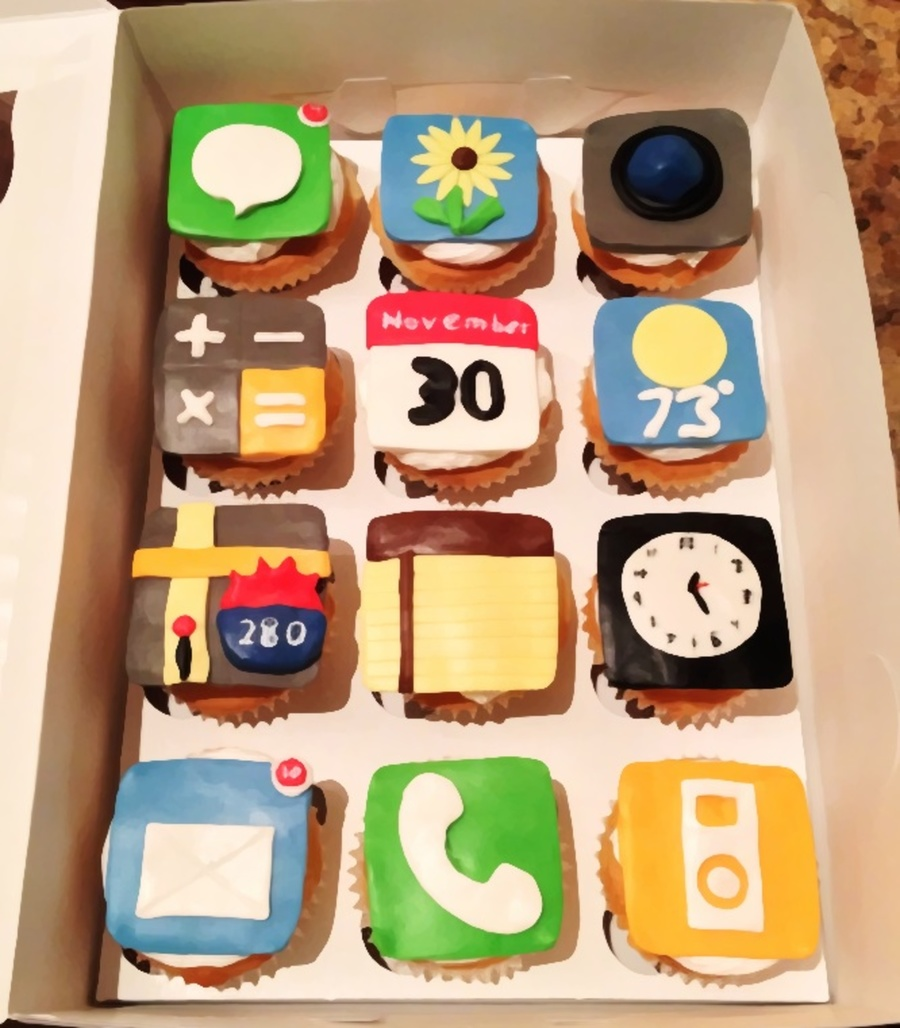 App Cupcakes on Cake Central