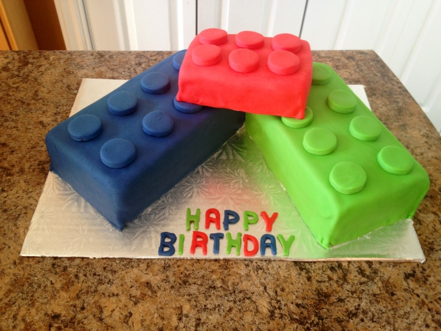 Lego Block Cake on Cake Central