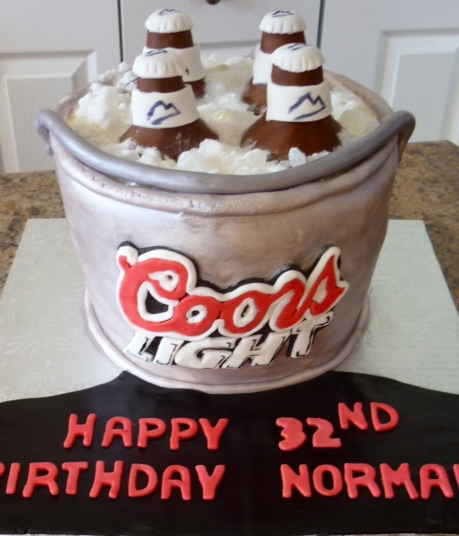 Bucket Of Beer Cake on Cake Central