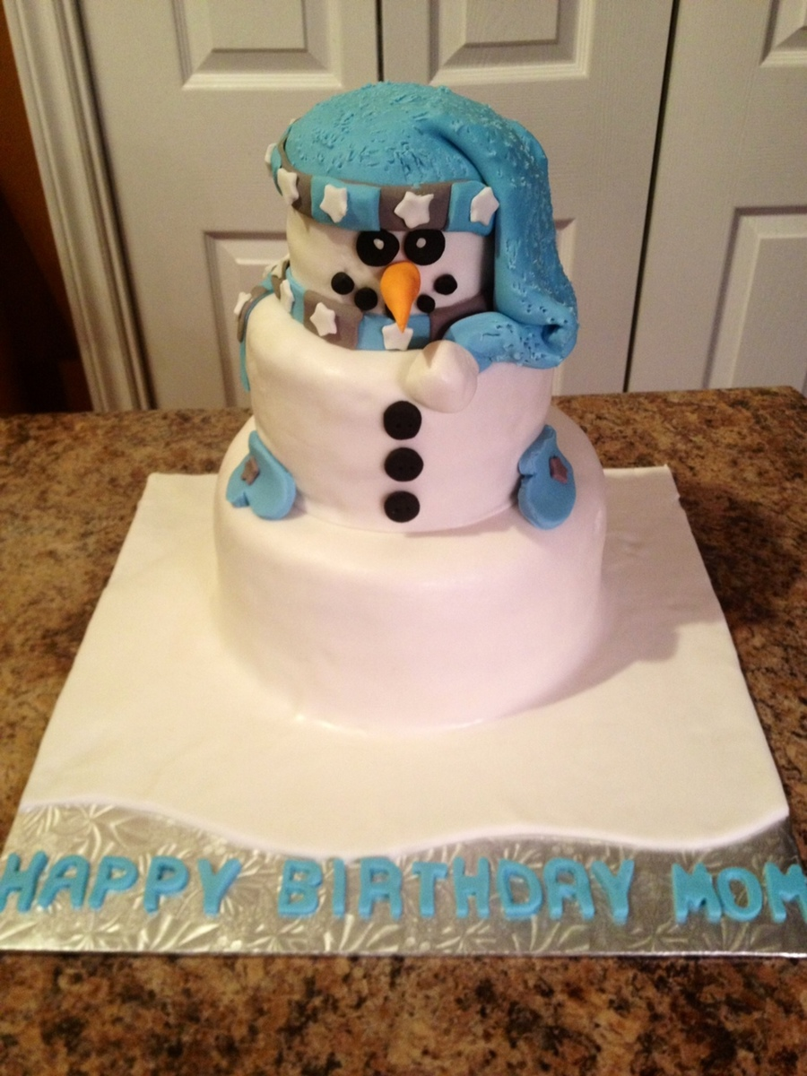 Snow Man Cake! on Cake Central