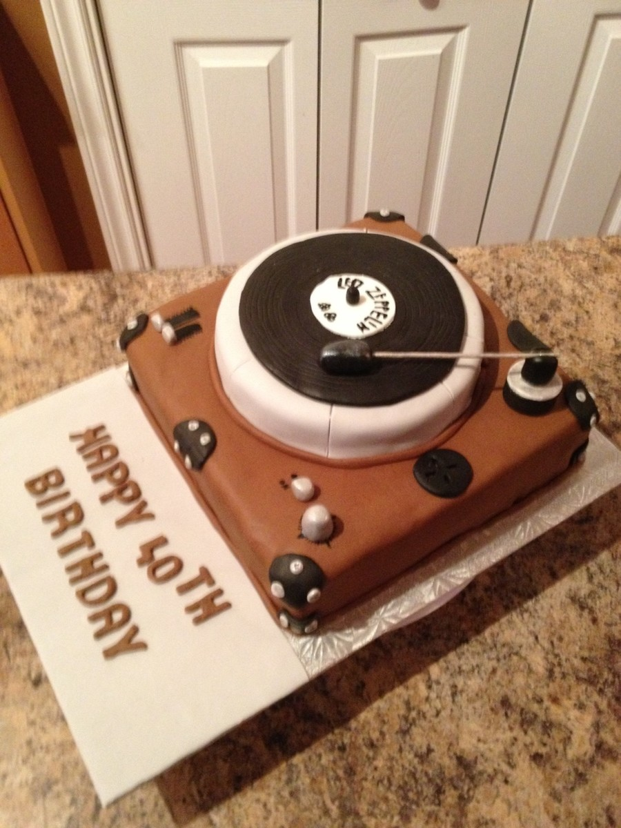 Record Player on Cake Central