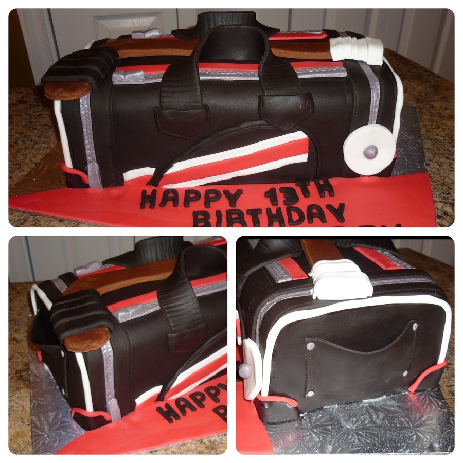 Hockey Bag Cake  on Cake Central