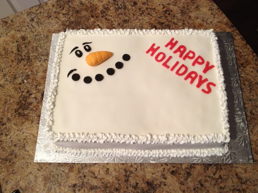 Happy Holidays on Cake Central
