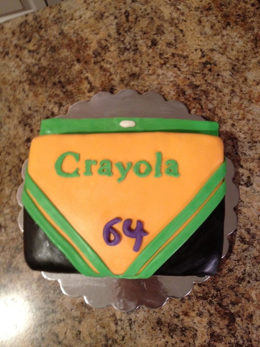 Crayola Crayons  on Cake Central