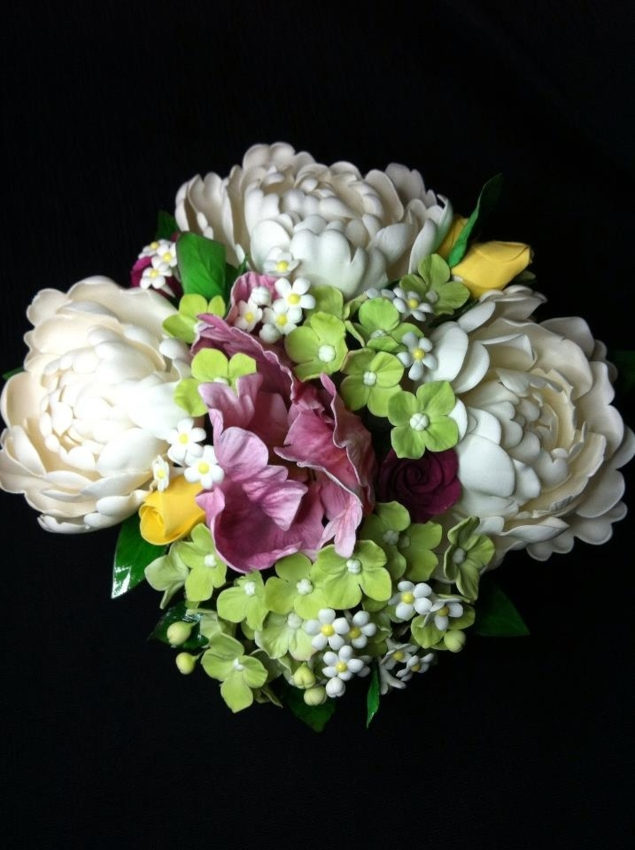 Gum Paste Flower Bouquet Cakecentral