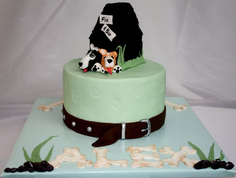 Dog Kennel Cake With Collar All Edible Cakecentral