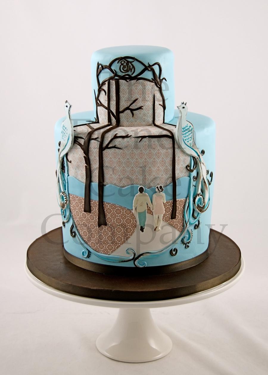 Modern Wedding Cake - CakeCentral.com