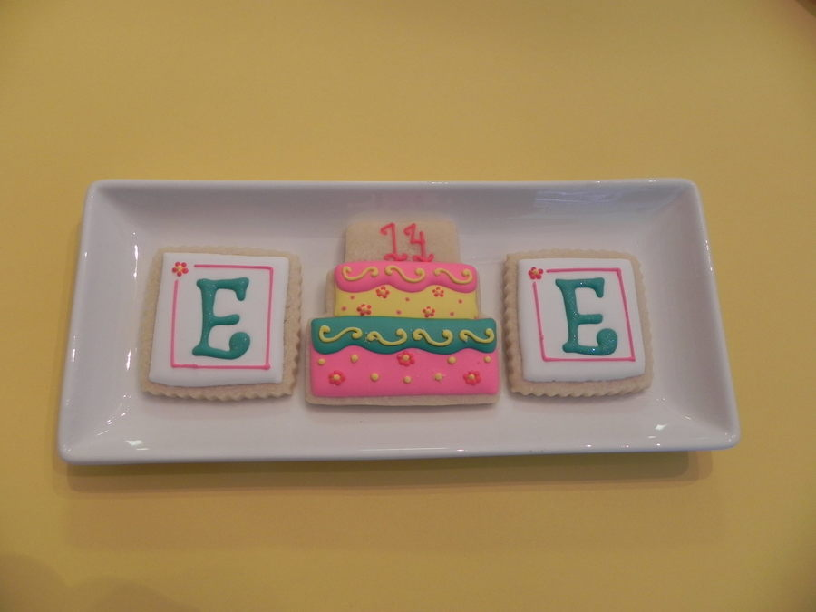 Monogram & B-Day Cake on Cake Central