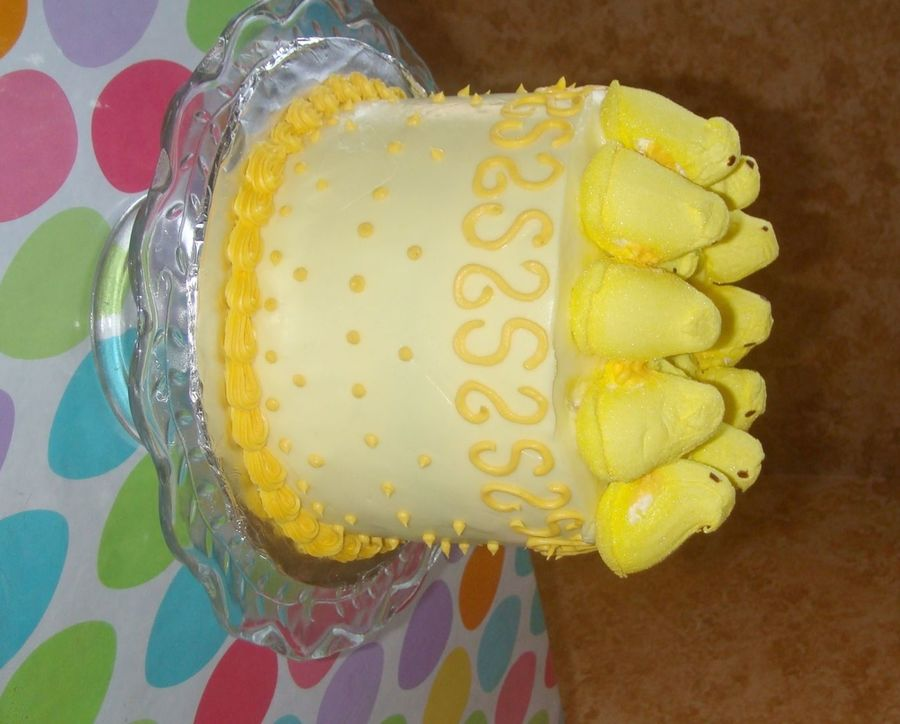 Yellow Peepster Cake on Cake Central
