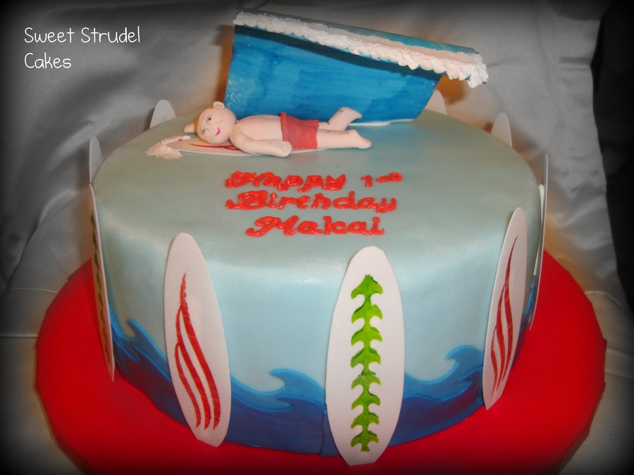Surfer Boy Birthday Cake  on Cake Central