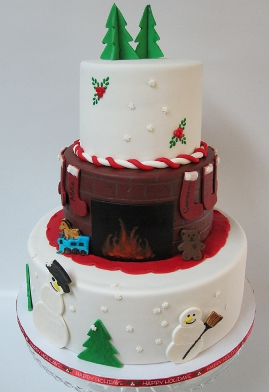 Christmas Party Cake on Cake Central