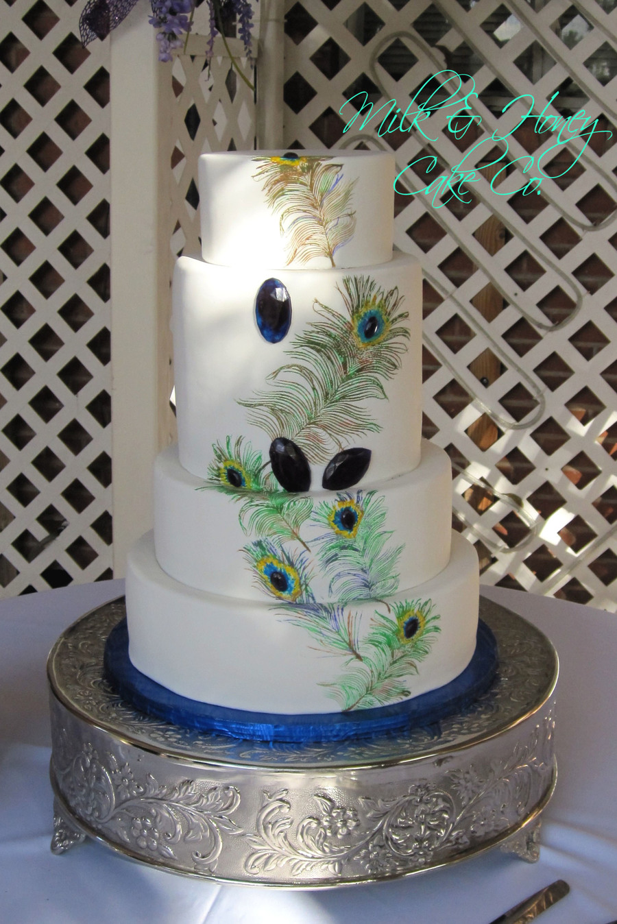 Pea**** Wedding Cake on Cake Central