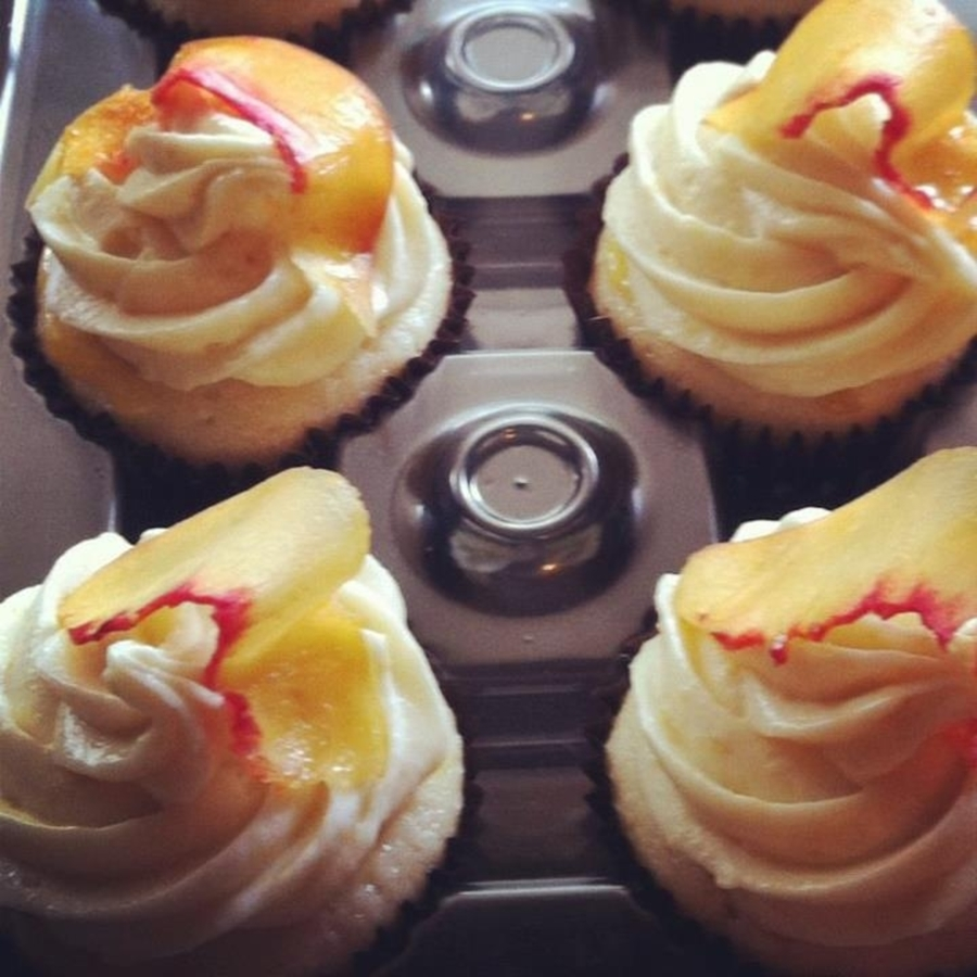 Peach Bellini Cupcakes on Cake Central