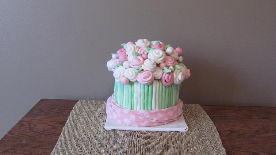 3D Ribbon Rose Bouquet - CakeCentral.com