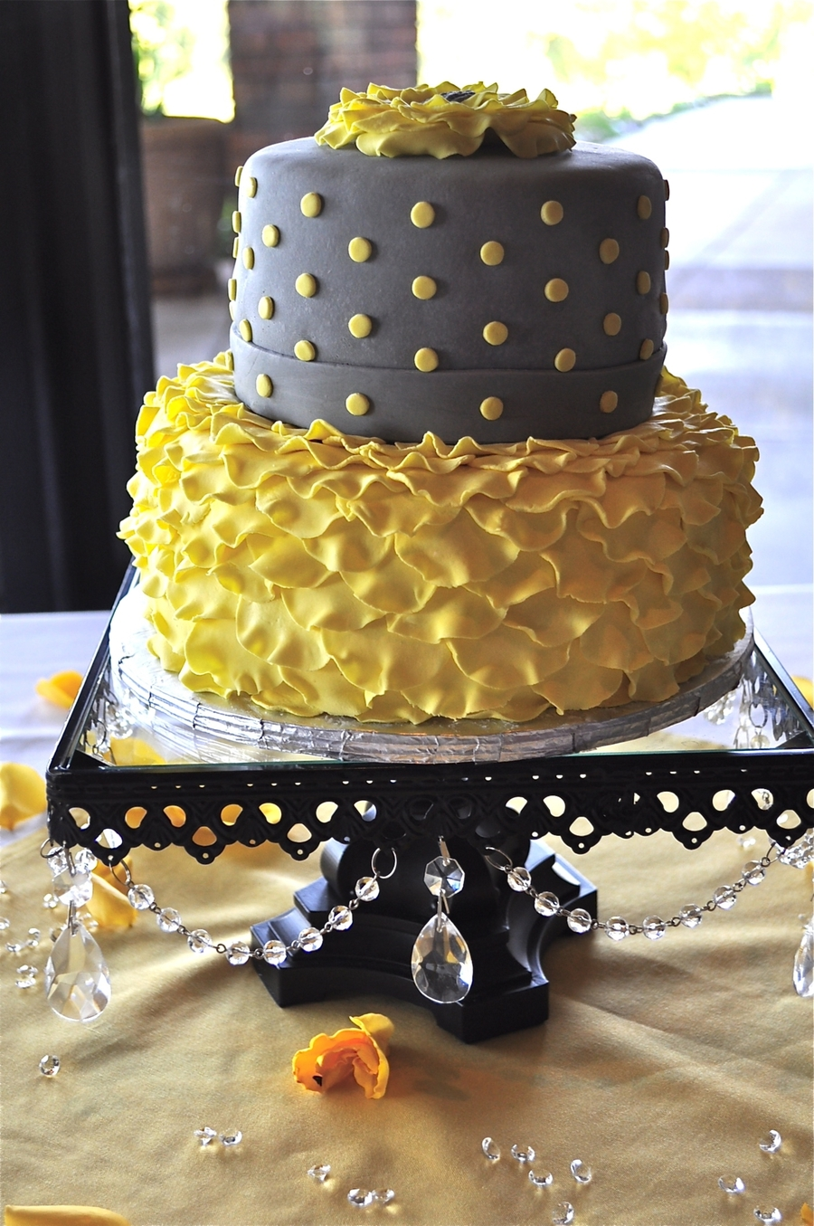 Yellow And Blue Wedding Cake Designs