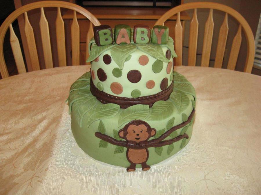Mod Pod Pop Monkey Baby Shower Cake Cakecentral