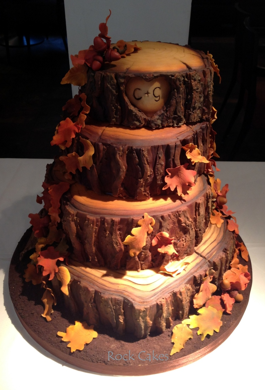 Fall Wedding Cakes.Autumn Wedding Cake Cakecentral Com