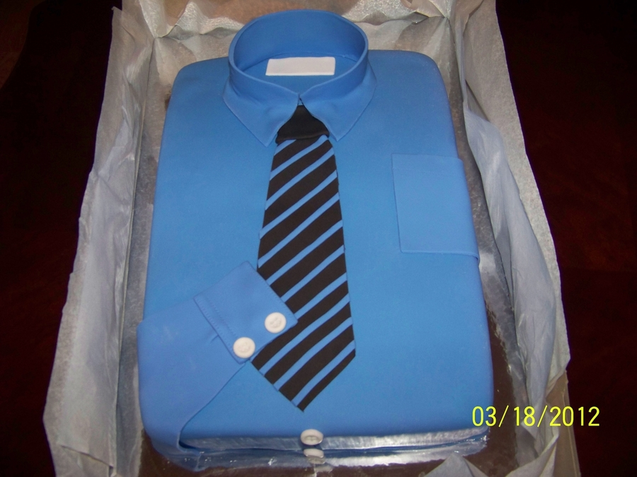 Shirt And Tie. on Cake Central