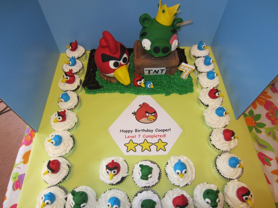 Angry Birds Birthday  on Cake Central