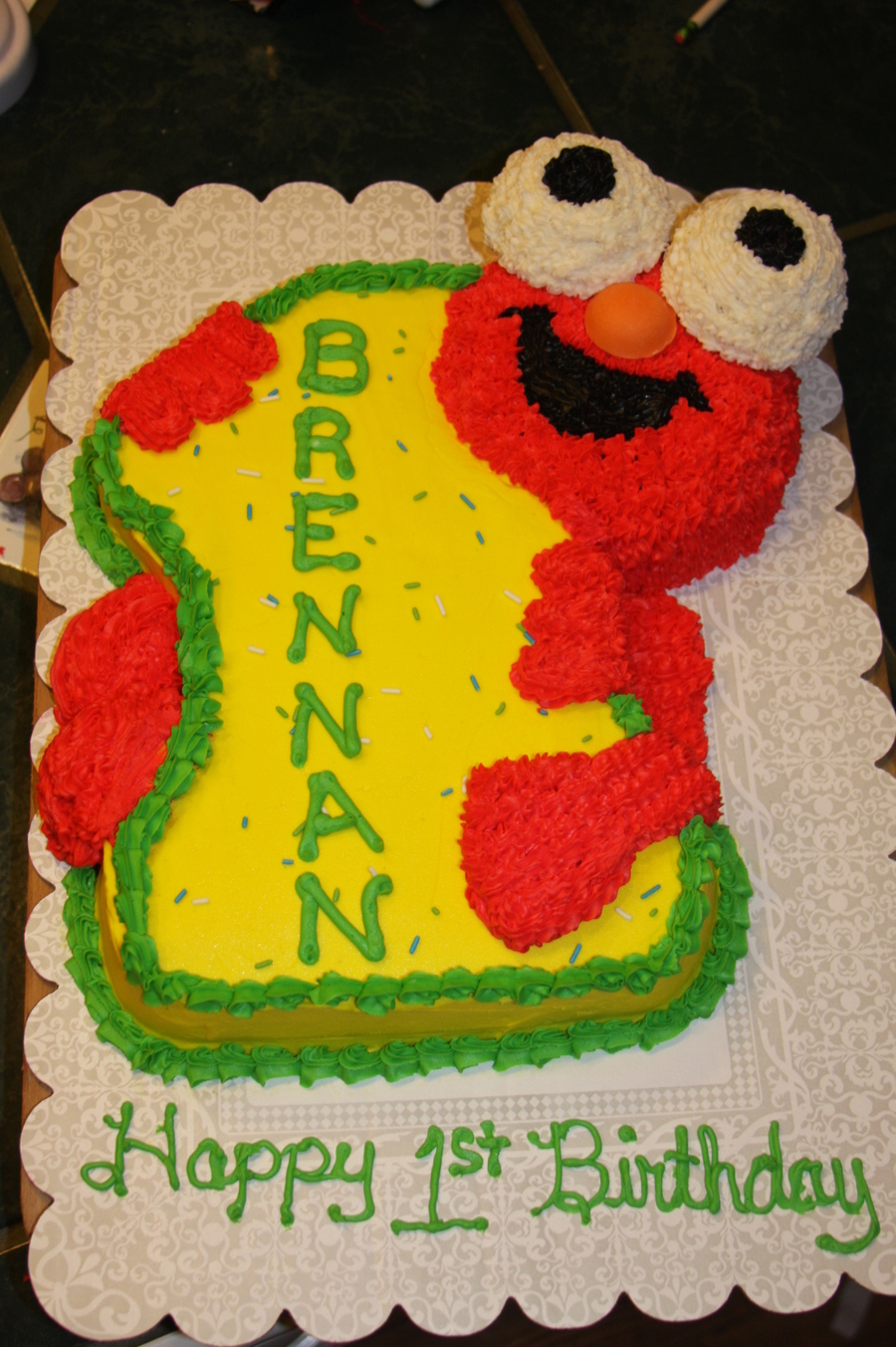 1st Birthday Elmo Cake And Smash Cake Cakecentral Com