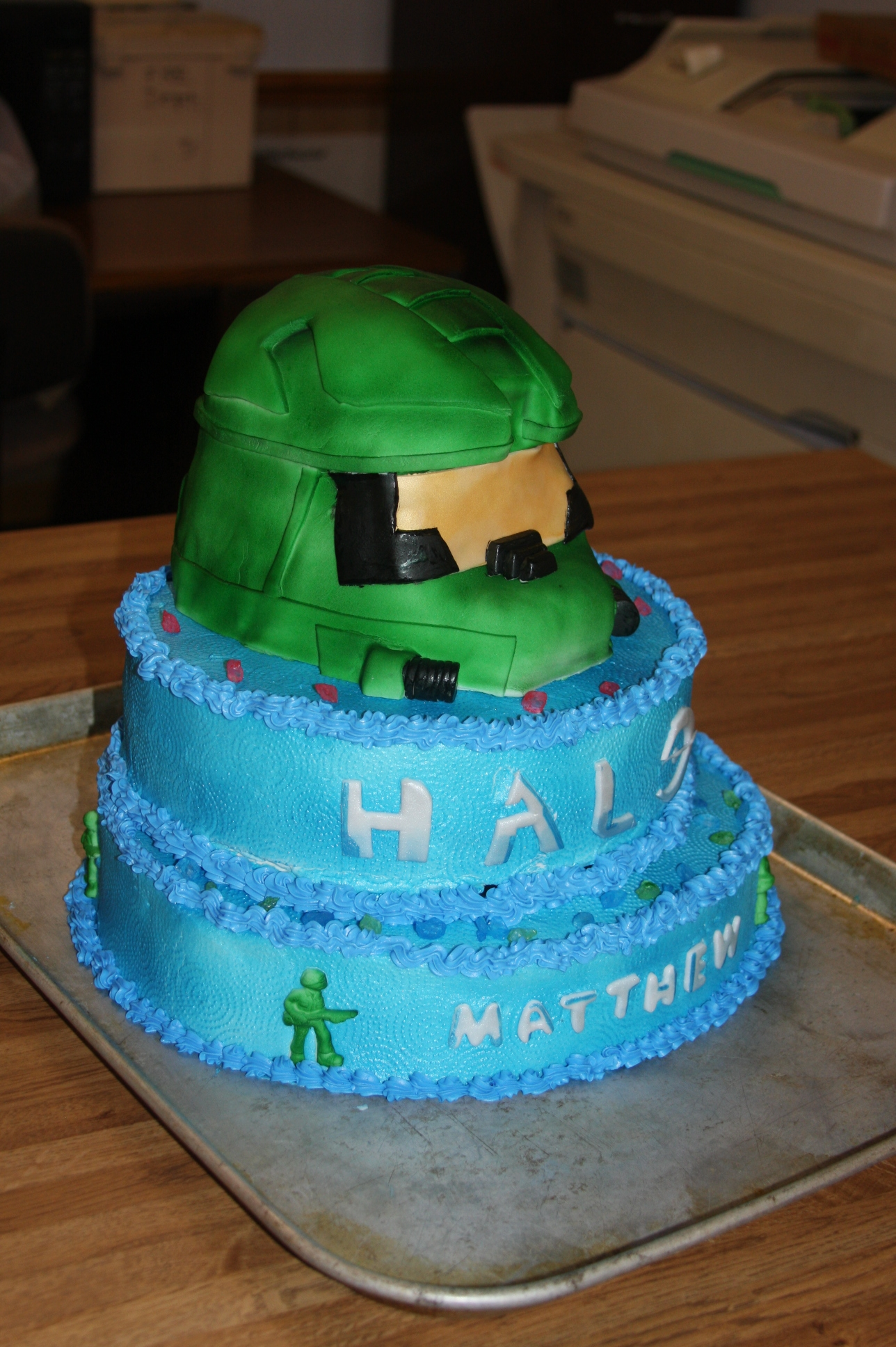 Master Chief Halo Cake CakeCentralcom
