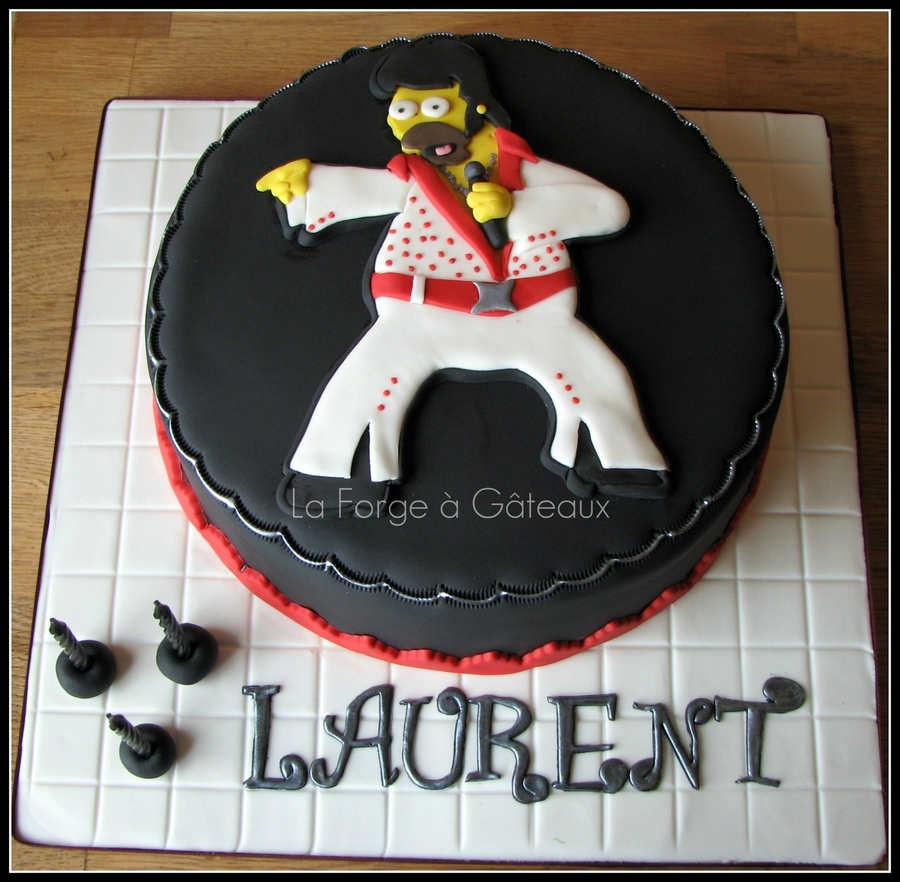 Homer Simpson Elvis  on Cake Central