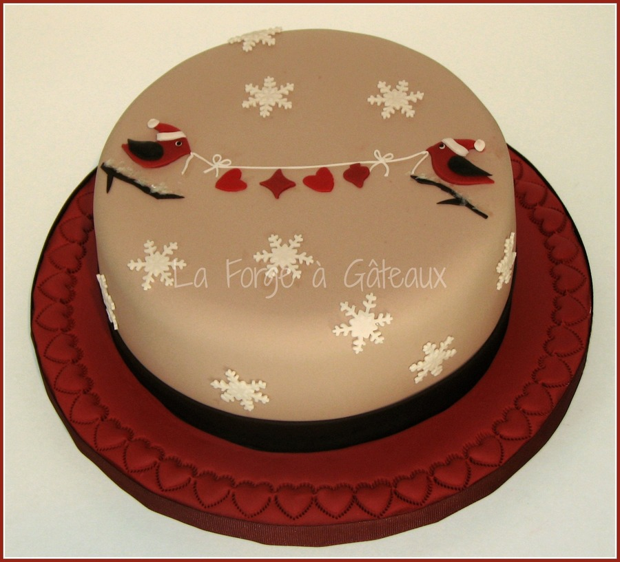 Christmas Birds on Cake Central