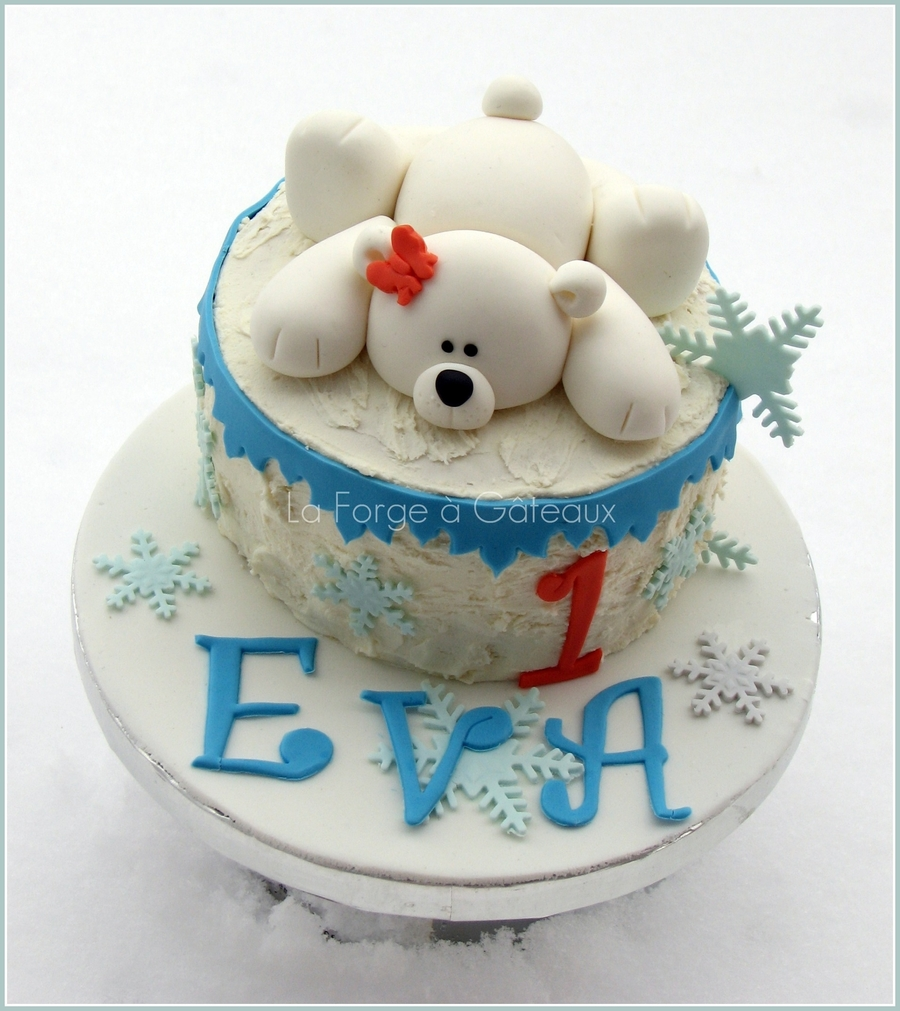 1St Birthday Polar Bear  on Cake Central