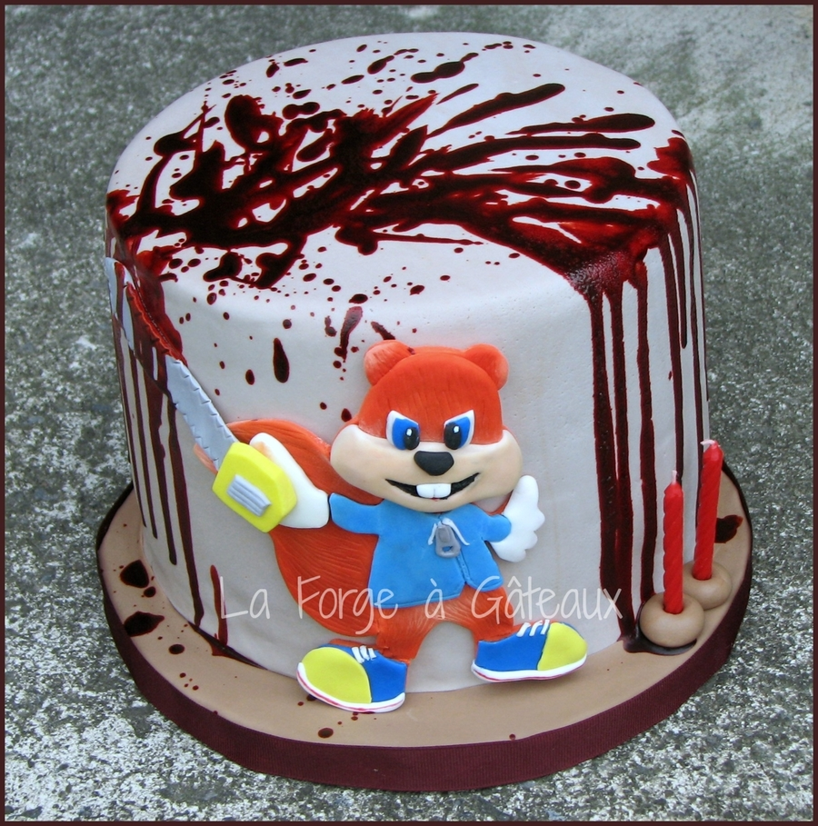 Conker Bad Fur Day Cakecentral Com