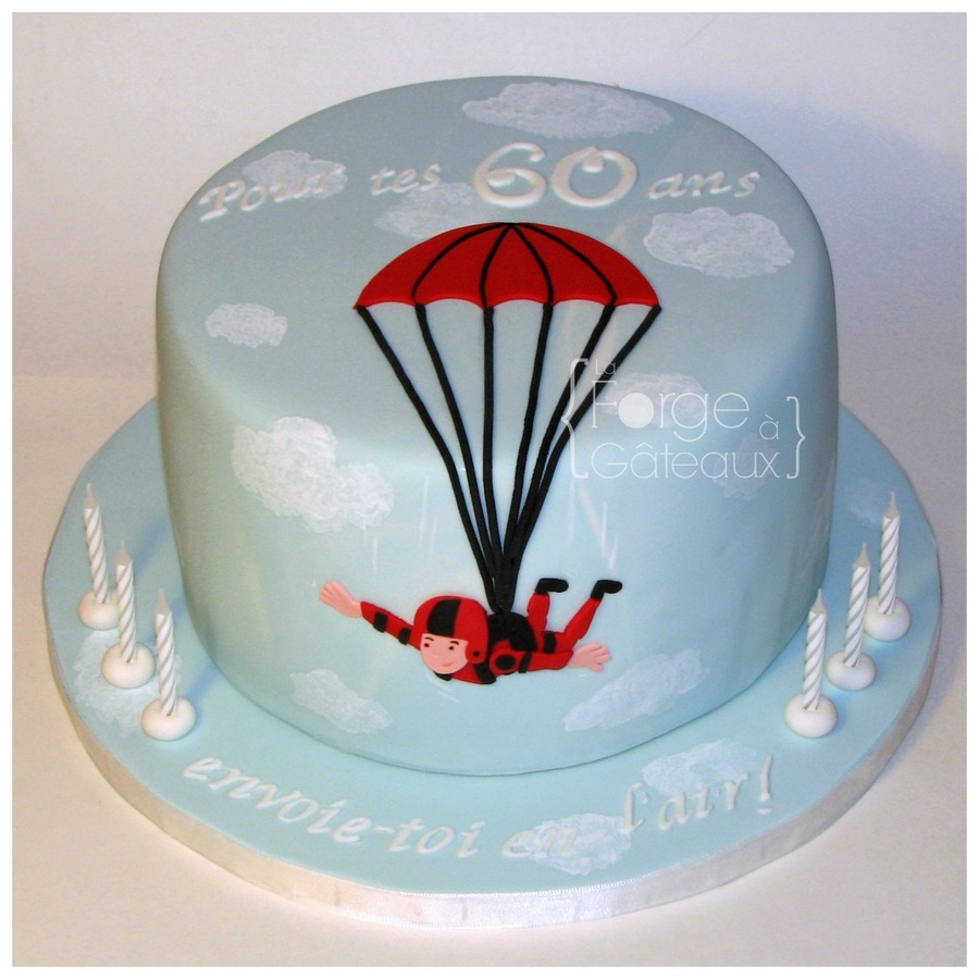 Skydiving Birthday Cake