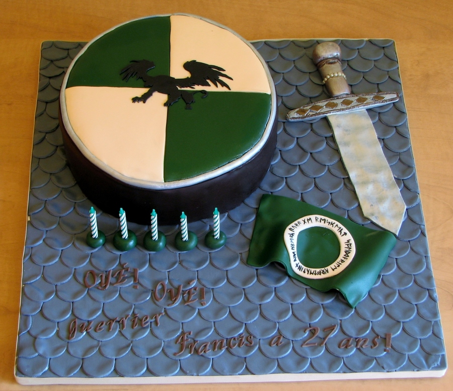 Incredible Medieval Cake Cakecentral Com Funny Birthday Cards Online Overcheapnameinfo