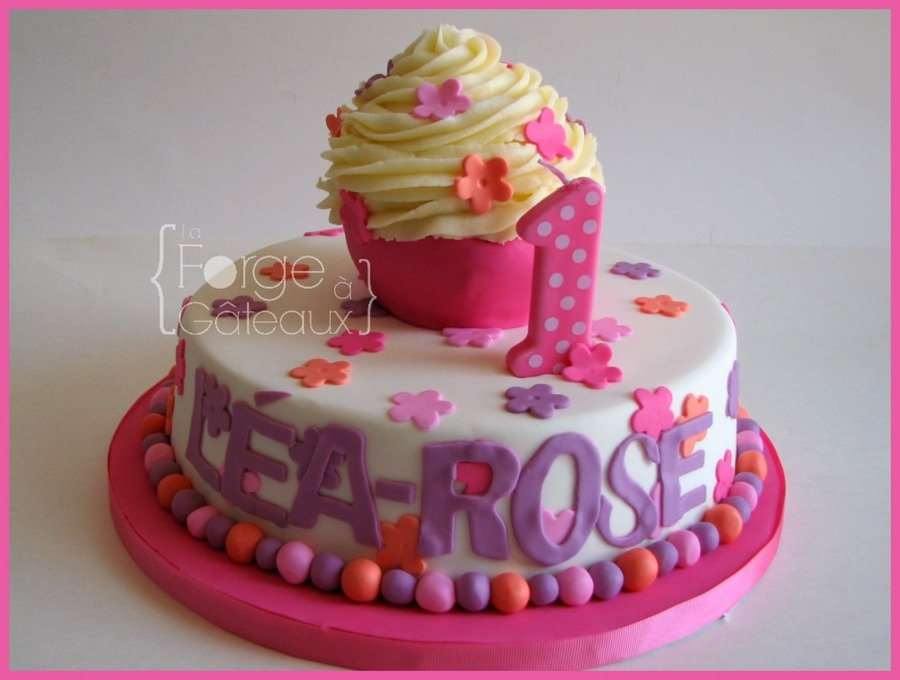 Brilliant 1St Birthday Girl Cake Cakecentral Com Funny Birthday Cards Online Barepcheapnameinfo