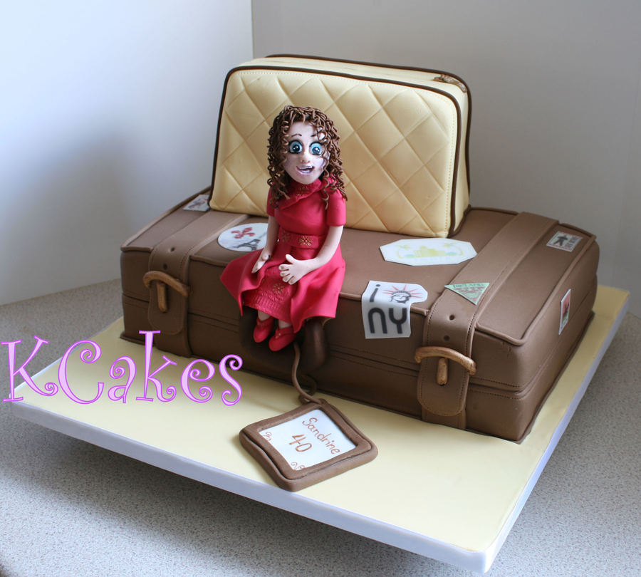 For Sandrine Who Loves To Travel On Her 40Th on Cake Central