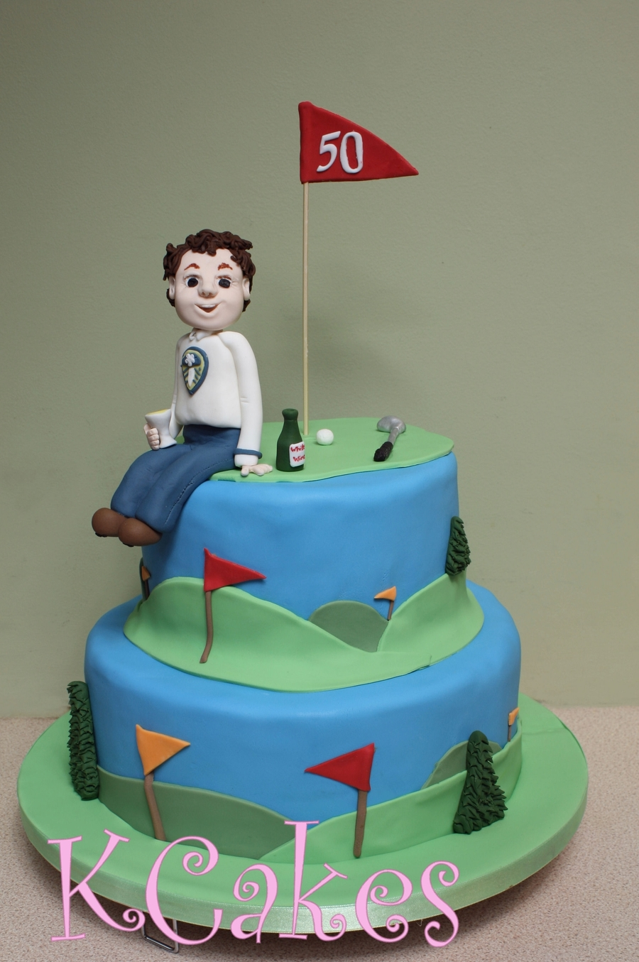 50Th Birthday Golf Cake on Cake Central
