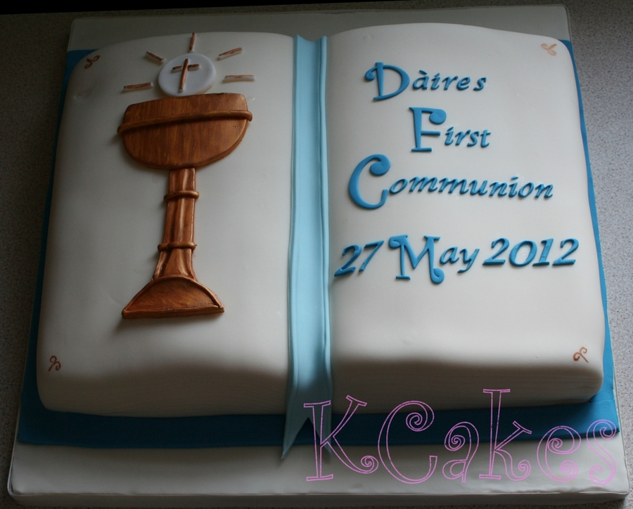 Book Shaped First Communion Cake on Cake Central