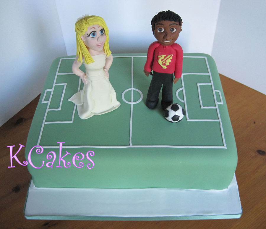 Grooms Cake Bride Having To Collect The Groom From The Football Pitch on Cake Central