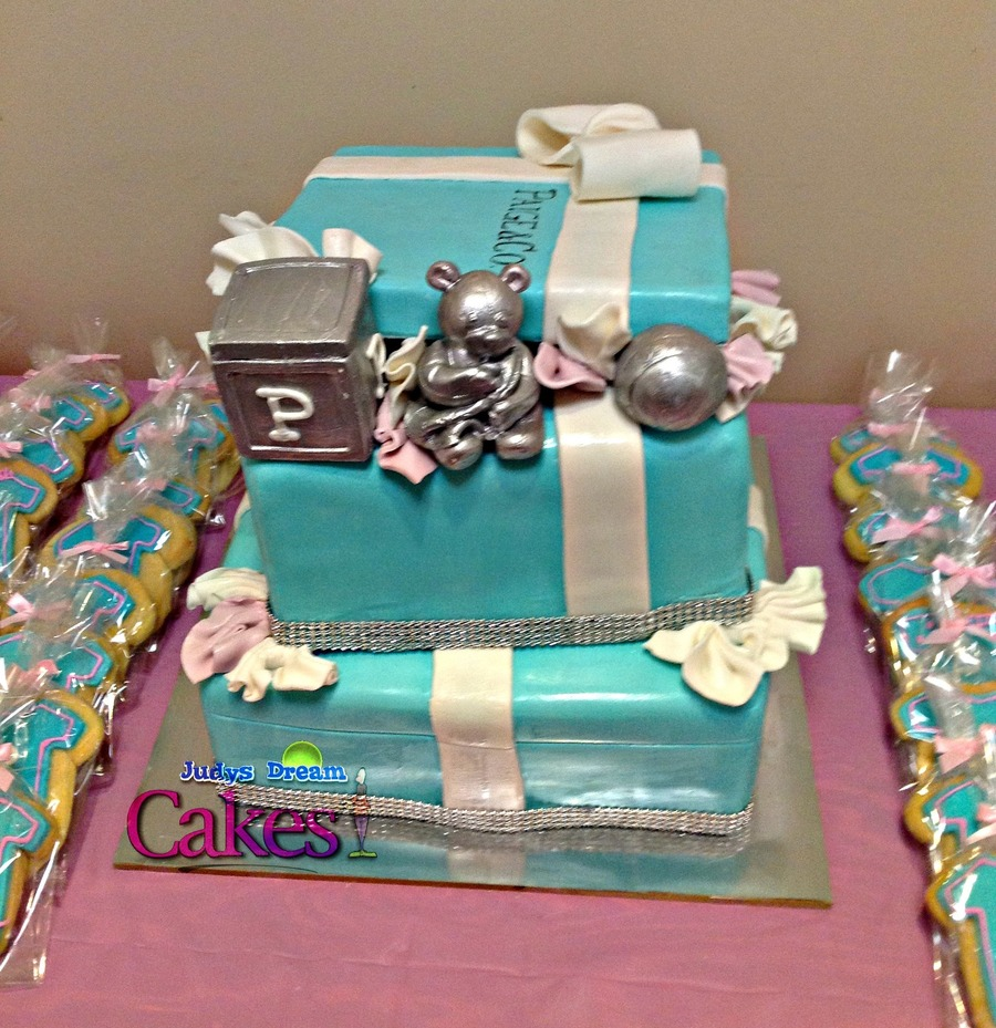Tiffany Co Inspired Baby Shower Cake Cakecentral Com