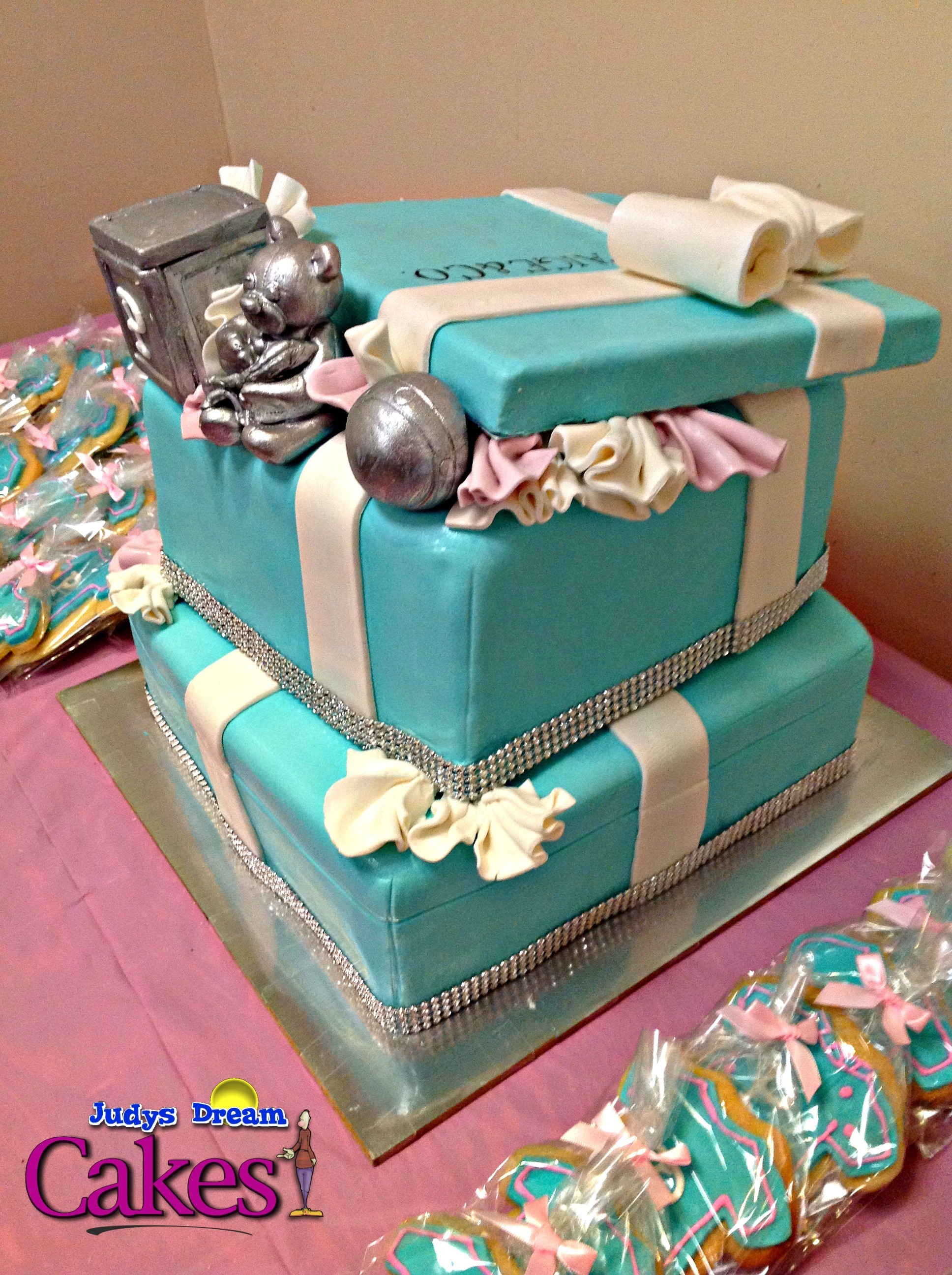 Tiffany Co Inspired Baby Shower Cake Cakecentral