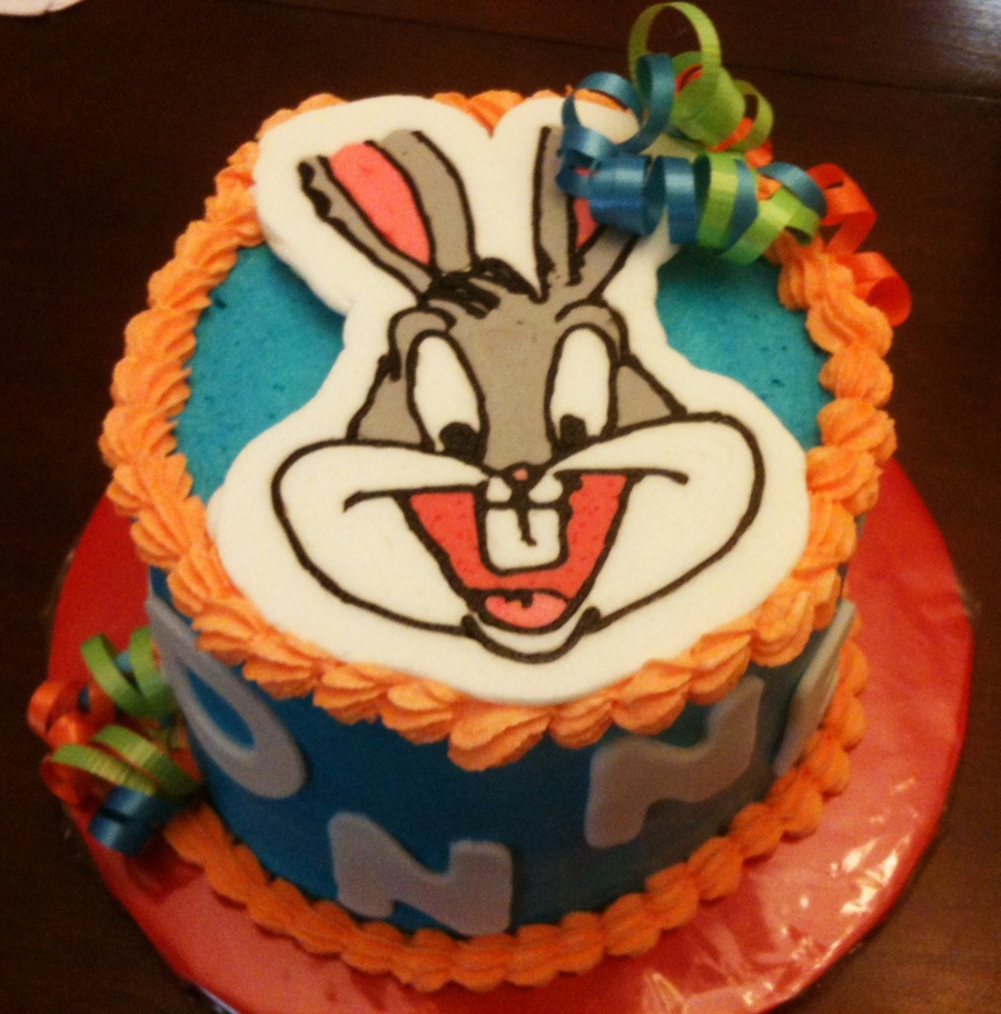 Bugs Bunny Frozen Buttercream Transfer Covered In Bc on Cake Central
