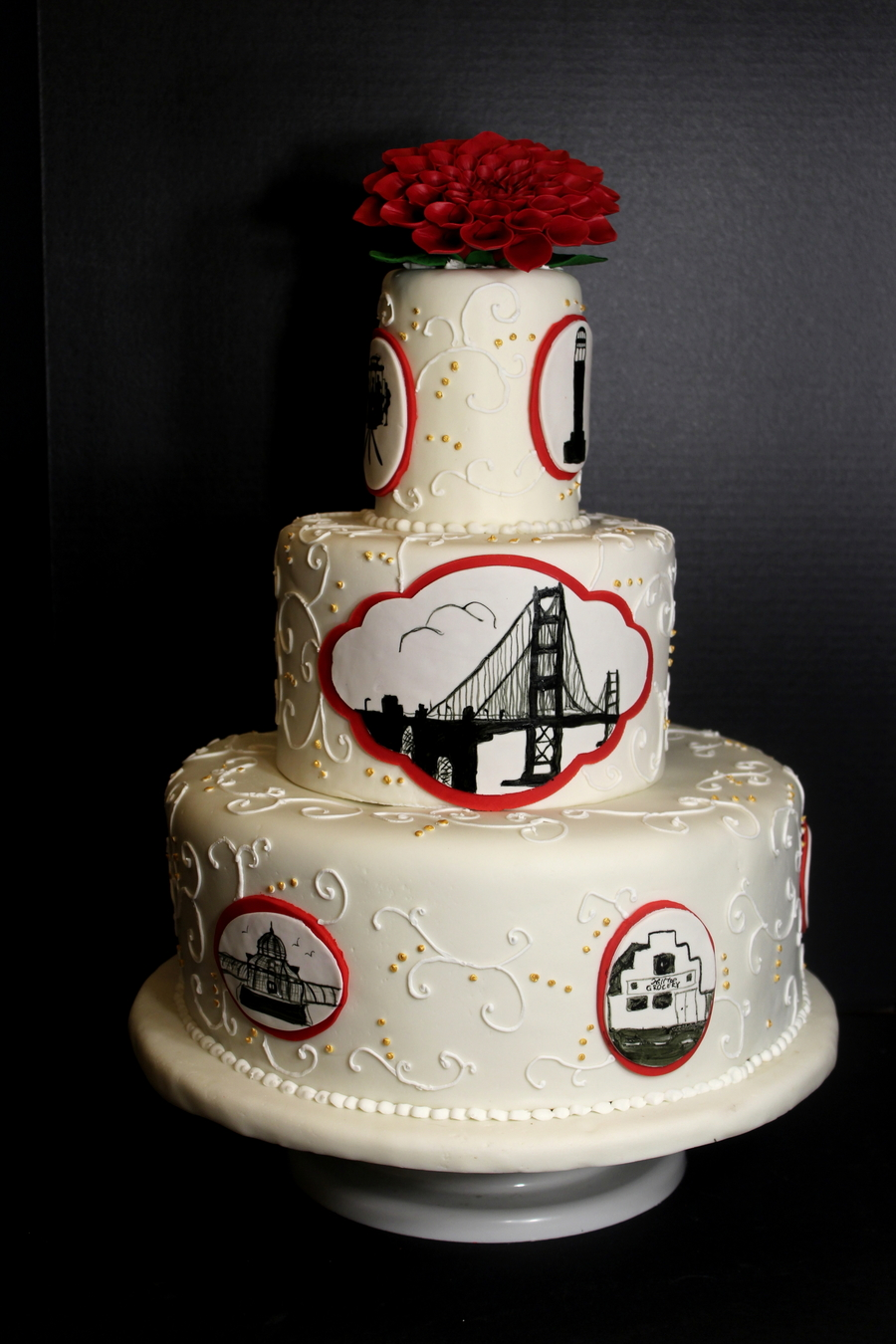 wedding cake places in san francisco san francisco themed wedding cake cakecentral 23491
