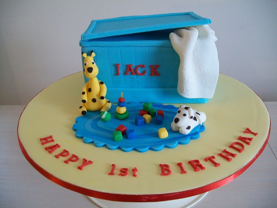 Jack's First Birthday Toy Box Cake on Cake Central