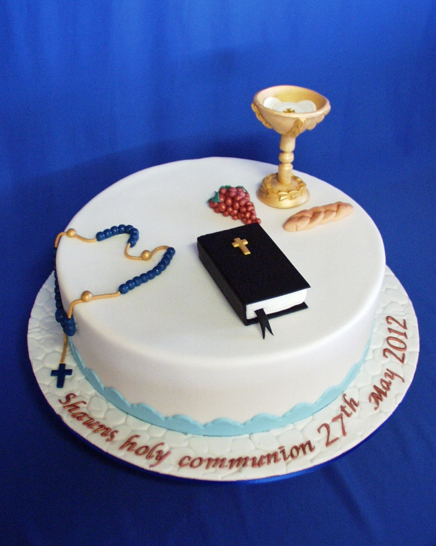 Shaun's Holy Communion on Cake Central