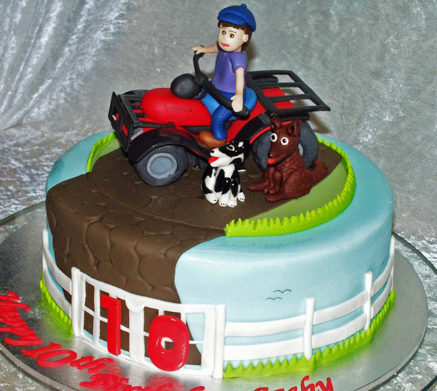 Quad Bike Fun On Cake Central