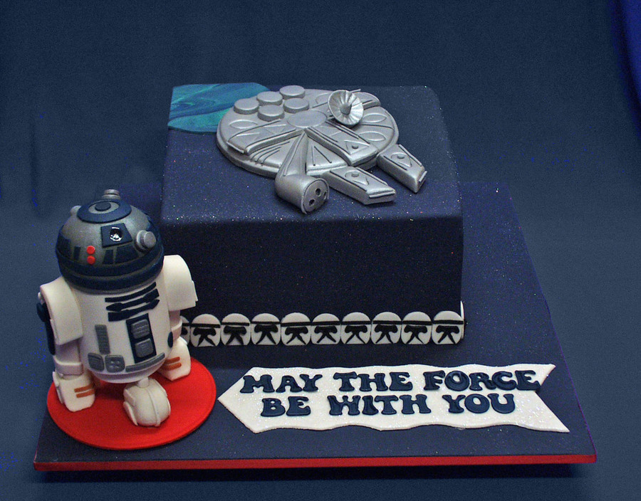 Star Wars And R2d2 Birthday Cake Cakecentral