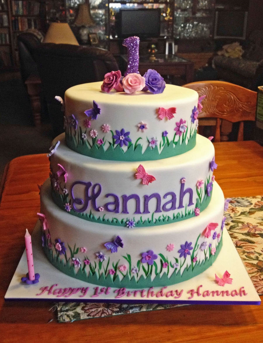 Hannah's 1St Birthday Cake on Cake Central