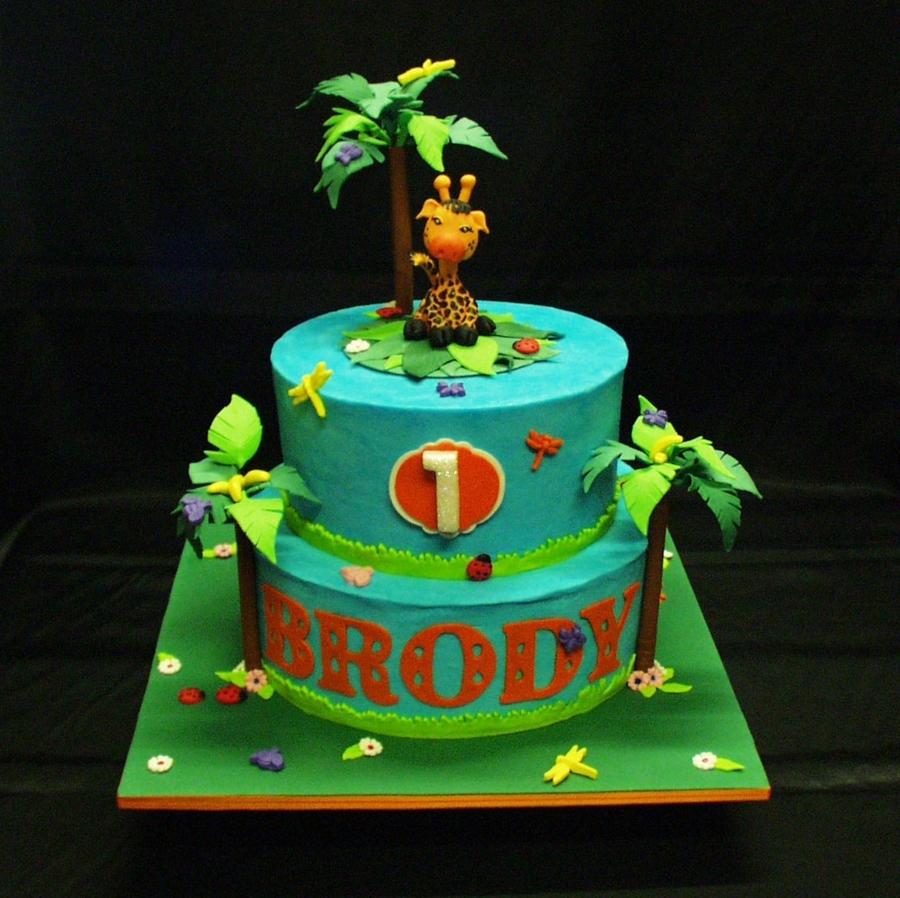 Baby Giraffe 1st Birthday Cake Cakecentral