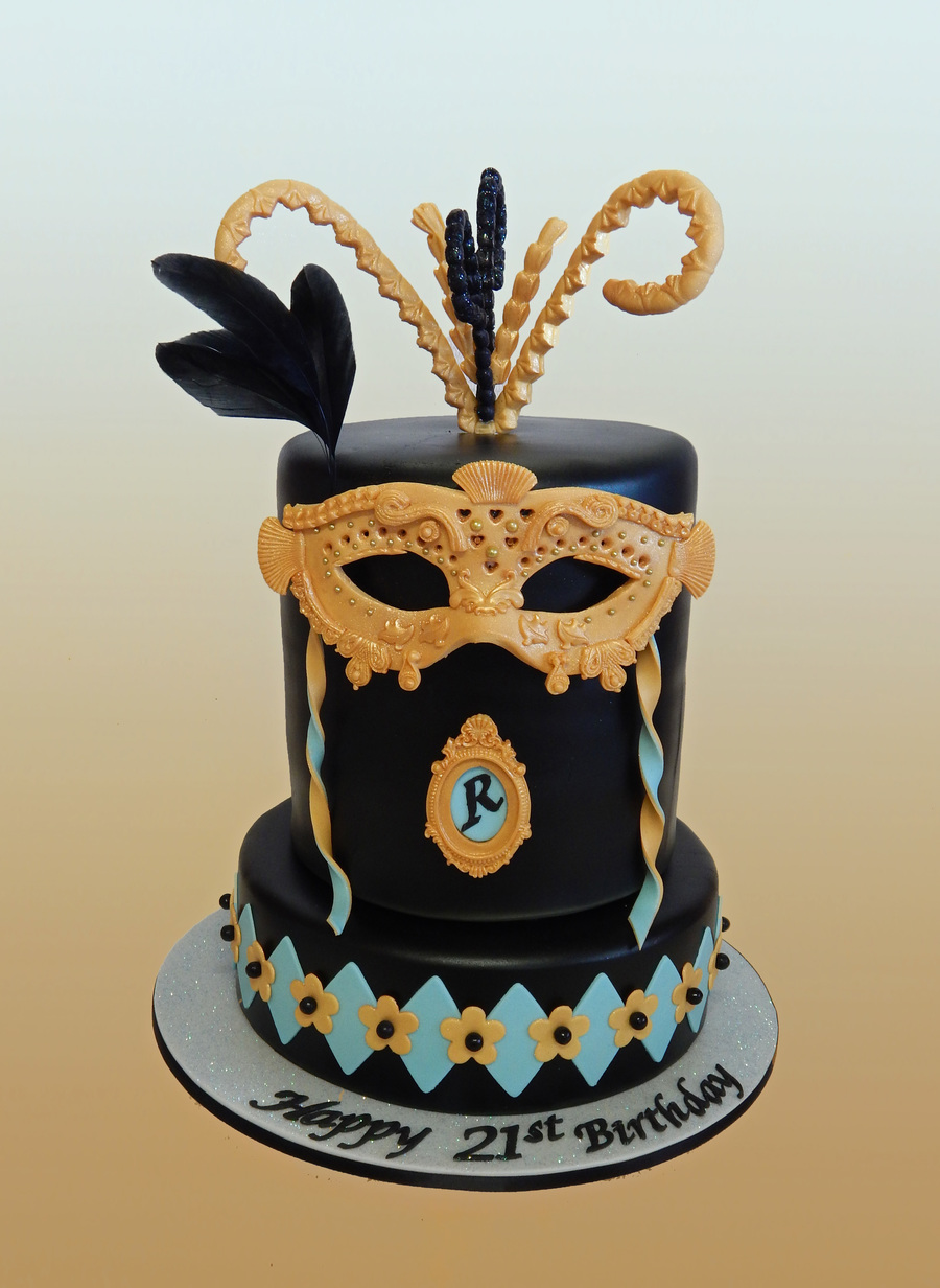 Mask Birthday Cake