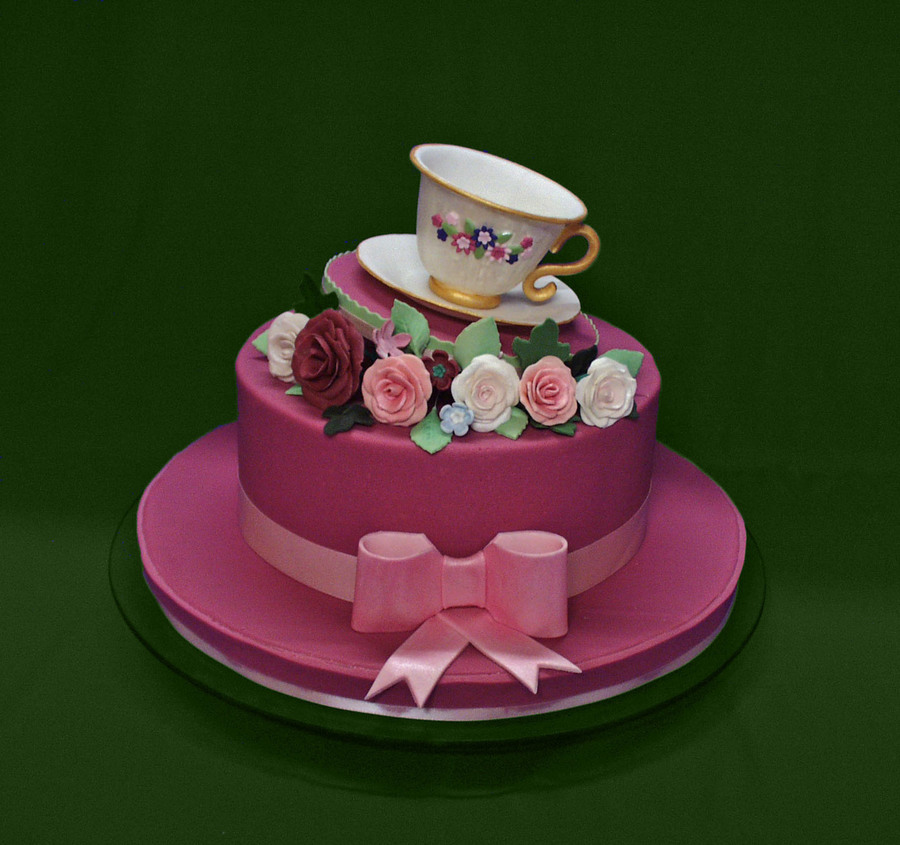 Ladies Hat And Teacup 90Th Birthday Cake CakeCentralcom