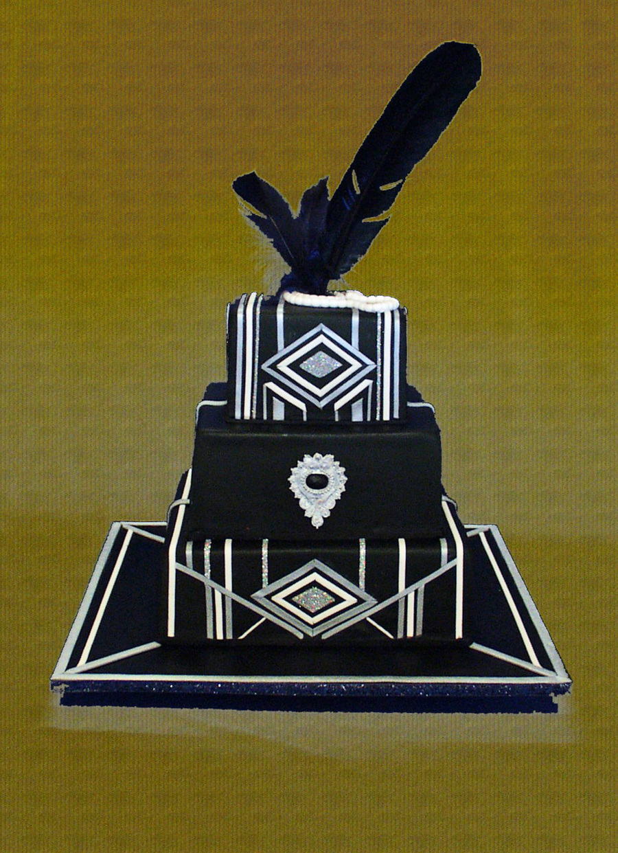 An Art Deco Themed 50th Birthday Cake For A Gatsby Style Celebration
