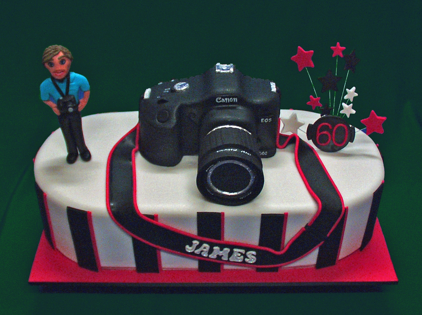 Superb James Camera Birthday Cake Cakecentral Com Personalised Birthday Cards Vishlily Jamesorg